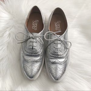 FRANCO SARTO | Nova Silver Wingtip Sneaker Creeper